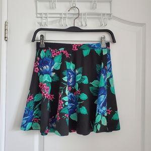 EUC Floral Skater Flare Skirt